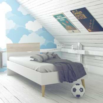 מיטת יחיד מעוצבת תוצרת דנמרק דגם דלתא