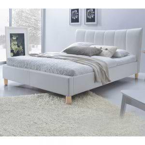 מיטה זוגית 140×190 מרופדת בעיצוב מרשים דגם סנדי