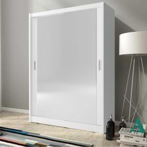 """ארון הזזה 150 ס""""מ עם 2 דלתות מראה תוצרת אירופה דגם גלוב"""