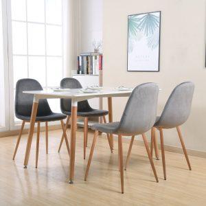 פינת אוכל קטנה הכוללת שולחן דגם גולן ו- 4 כסאות דגם לפיד