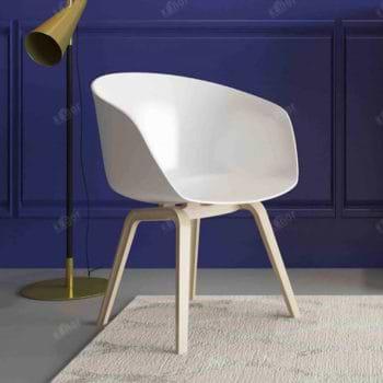 זוג כסאות עיצוב עם רגלי עץ מלא דגם גורן – משלוח חינם!