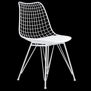 זוג כסאות מתכת עם מושב מרופד דגם יעל – משלוח חינם!