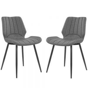 זוג כסאות לפינת אוכל עם רגלי מתכת דגם יהב – משלוח חינם!