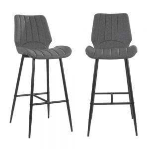זוג כסאות בר עם רגלי מתכת דגם יאיר – משלוח חינם!