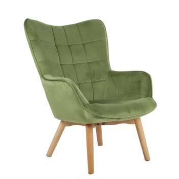 כורסא מלכותית מעוצבת עם רגלי עץ מלא וריפוד קטיפתי דגם בוסטון