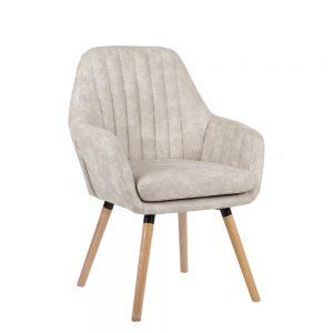 כורסא מעוצבת עם רגלי עץ מלא דגם דנבר