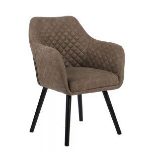 כורסא מעוצבת עם רגלי עץ מלא דגם יוסטון