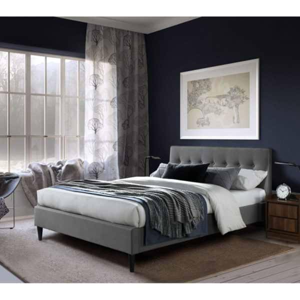 מיטת זוגית מעוצבת 140x190 בריפוד בד דגם פוני 140