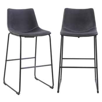 זוג כסאות בר עם רגלי מתכת דגם אלבמה 70 – משלוח חינם!