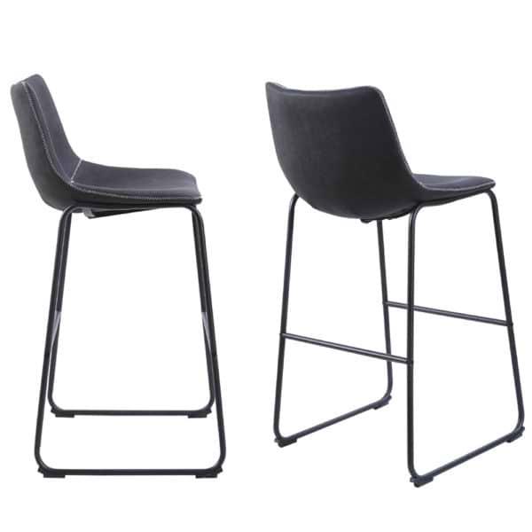 זוג כסאות בר עם רגלי מתכת דגם אלבמה – משלוח חינם!