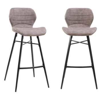 זוג כסאות בר עם רגלי מתכת דגם פלורידה – משלוח חינם!