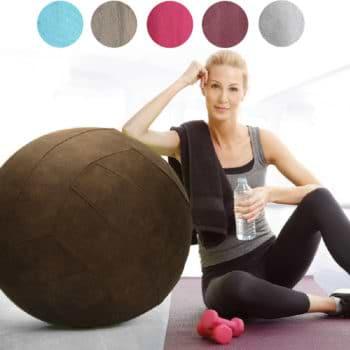 כדור ישיבה מדליק עם בד קטיפתי וידית נשיאה למגוון שימושים בבית או במשרד Sitting Ball