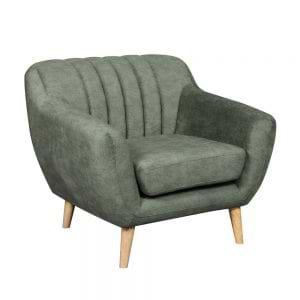 כורסא מעוצבת בעיצוב רטרו עם ריפוד בד רחיץ דגם פורטו