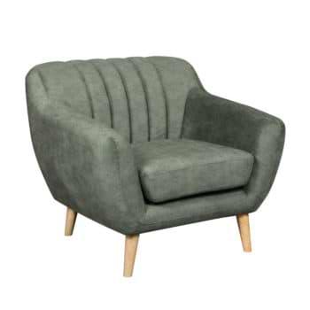 כורסא מעוצבת בעיצוב רטרו עם ריפוד בד רחיץ דגם פורטו-ירוק