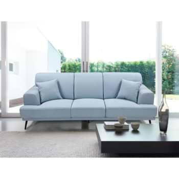 ספה תלת מושבית מעוצבת עם ריפוד דוחה נוזלים דגם סטנלי – תכלת