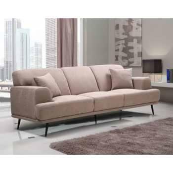 ספה תלת מושבית מעוצבת עם ריפוד דוחה נוזלים דגם סטנלי – קפוצינו