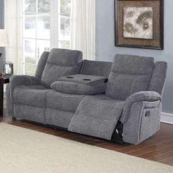 ספה תלת מושבית מבד עם 2 הדומים נשלפים ובר דגם גלורי