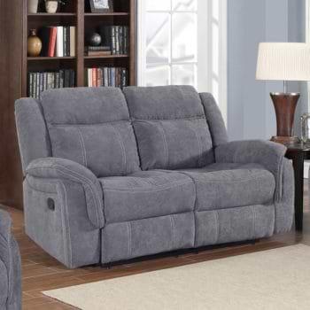 ספה דו מושבית מבד עם 2 הדומים נשלפים דגם גלורי
