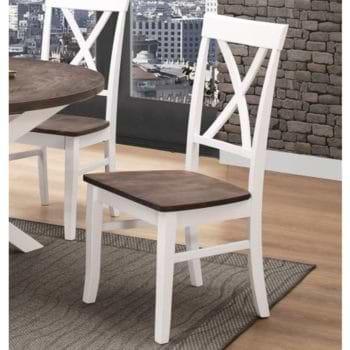 זוג כיסאות אוכל עשויים עץ מלא דגם שירז – משלוח חינם!