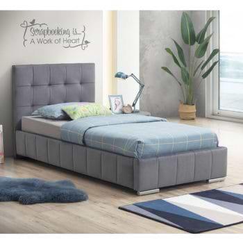 מיטת יחיד 90×190 מרופדת בד קטיפתי דגם ספניש SPANISH