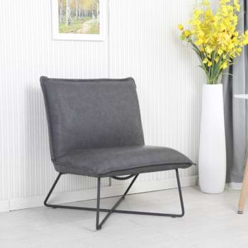 כורסא מעוצבת בריפוד רחיץ עם רגלי מתכת דגם ארד