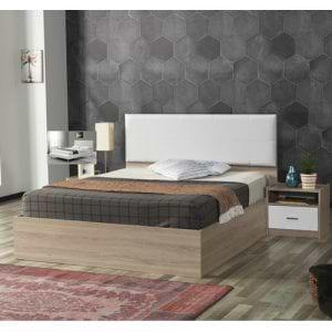 מיטה זוגית עם ראש מיטה מרופד  + 2 שידות דגם ננסי
