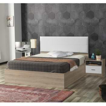 מיטה זוגית עם ראש מיטה מרופד דגם ננסי