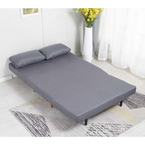 ספה נפתחת למיטה רחבה מרופדת בד רחיץ דגם ניקי 120