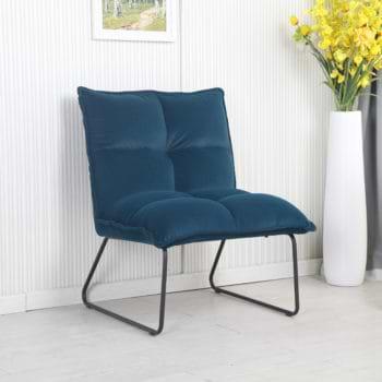 זוג כורסאות המתנה מעוצבות עם רגלי מתכת דגם פולו – ירוק
