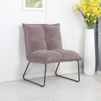 זוג כורסאות המתנה מעוצבות עם רגלי מתכת דגם פולו – אפור