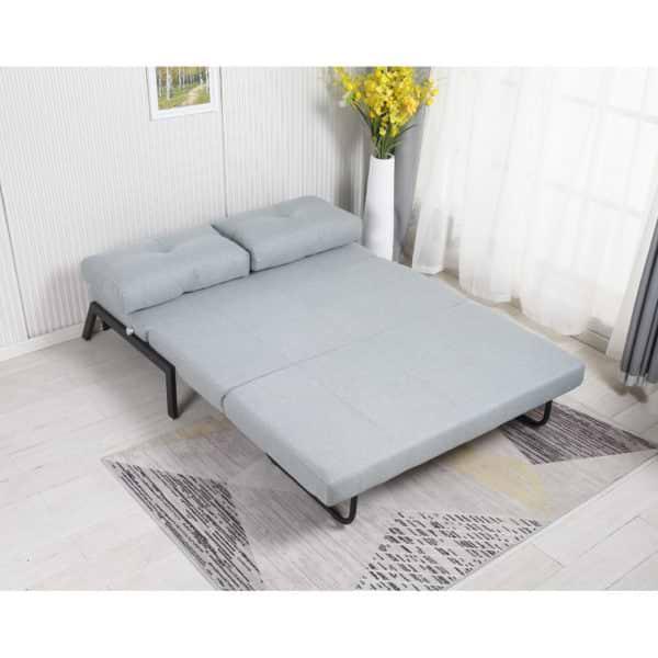 ספה מעוצבת מרופדת בד רחיץ ונפתחת למיטה זוגית דגם טלמור