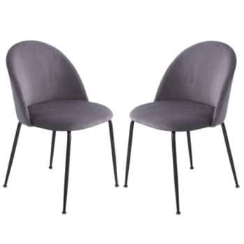 זוג כסאות מרופדים לפינת אוכל HOME DECOR דגם תובל-אפור – משלוח חינם!