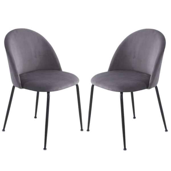 זוג כסאות מרופדים לפינת אוכל HOME DECOR דגם תובל-שחור – משלוח חינם!