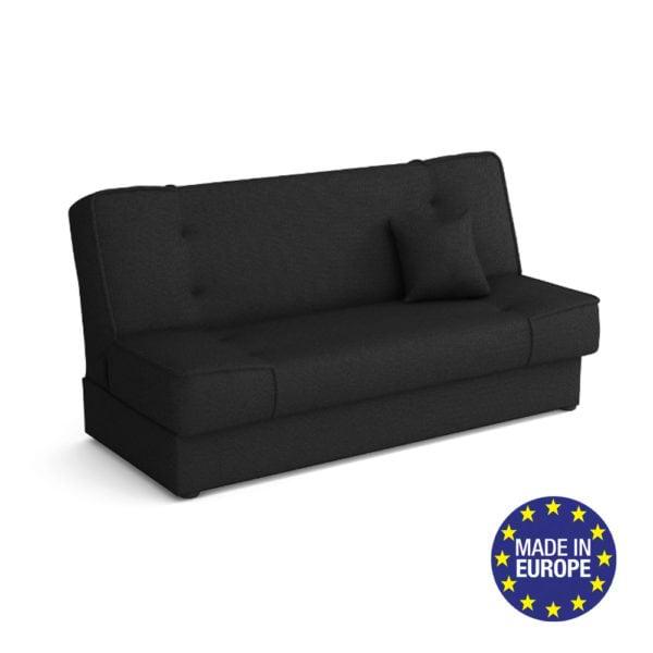 ספה אירופאית נפתחת למיטה רחבה עם ארגז מצעים דגם עדי