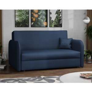 ספה אירופאית מעוצבת נפתחת למיטה עם ארגז מצעים דגם מאיה – כחול