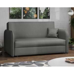 ספה אירופאית מעוצבת נפתחת למיטה עם ארגז מצעים דגם מאיה – אפור