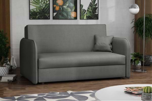 ספה אירופאית מעוצבת נפתחת למיטה עם ארגז מצעים דגם מאיה - כחול