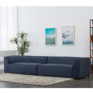 ספה רחבה 3.2 מ' מודרנית מרופדת בד דגם פטיו