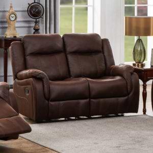 ספה דו מושבית מבד עם 2 הדומים נשלפים  HOME DECOR דגם אוליביה – חום