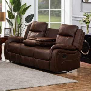 ספה תלת מושבית מבד עם 2 הדומים נשלפים ובר  HOME DECOR דגם אוליביה – חום