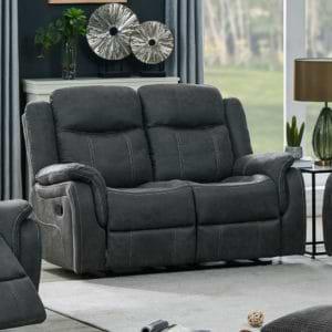 ספה דו מושבית מבד עם 2 הדומים נשלפים  HOME DECOR דגם אוליביה – אפור