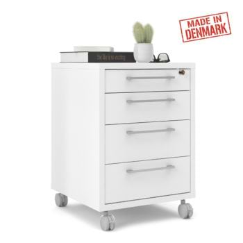 שידת מגירות למשרד עם גלגלים תוצרת דנמרק דגם דבלין