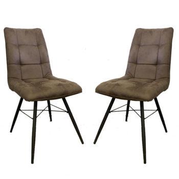 זוג כסאות לפינת אוכל מרופדים בד רחיץ דגם קרול – משלוח חינם!