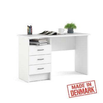 שולחן כתיבה לבן עם שידת מגירות ותא אחסון תוצרת דנמרק דגם מדיסון