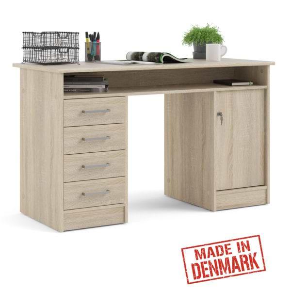 שולחן כתיבה עם שידת מגירות ותאי אחסון תוצרת דנמרק דגם משי
