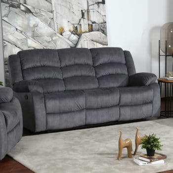 ספה תלת מושבית מבד עם 2 הדומים נשלפים דגם פירנצה