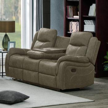 ספה תלת מושבית מבד עם 2 הדומים נשלפים ובר  HOME DECOR דגם אוליביה – קפוצינו