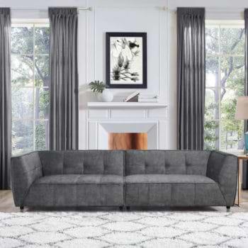 ספה רחבה 3 מ' מודרנית ומפנקת מרופדת בד רחיץ דגם מרטין