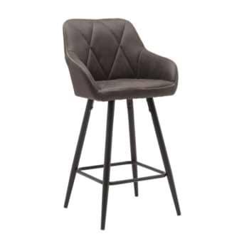 כיסא בר עם רגלי מתכת דגם רגב-אפור – משלוח חינם!