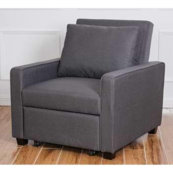 כורסא נפתחת למיטה עם ראש מתכוונן דגם סמייל + כרית נוי מתנה!